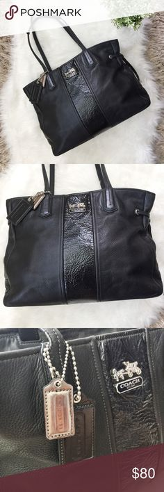 Spotted while shopping on Poshmark  Coach Chelsea Leather Charlie Stripe  Tote!  poshmark   08178a86ed045
