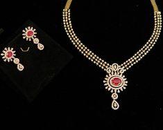 Diamond Necklaces / Chokers - Diamond Jewelry Diamond Necklaces / Chokers (DJPAM0105) at USD 7,420.78