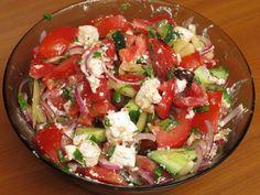 Horiatiki Greek Recipes, Cobb Salad, Dishes, Life, Food, Salads, Plate, Tablewares, Greek Food Recipes