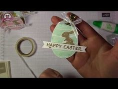 Tutorial: Faltschachtel für Schokohase mit Produkten von Stampin' Up! - YouTube Diy Box, Easter Crafts, Happy Easter, Stampin Up, Goodies, Diy Crafts, Youtube, Tutorials, Videos