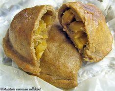 Lanttukukko on tuttu herkku jo lapsuudesta saakka. Mummo teki isoja lanttukukkoja, joista leikattiin syöjille siivuja, mutta meillä koton... Finnish Recipes, Looks Yummy, Sweet And Salty, Something Sweet, Baked Potato, Bread, Baking, Breakfast, Ethnic Recipes