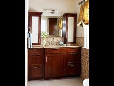 Bathroom storage wall cabinet