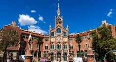 Hospital of the Holy Cross and Saint Paul, (Hospital de la Santa Creu i de Sant Pau), Barcelona, Catalonia, Spain, UNESCO World Heritage Site.