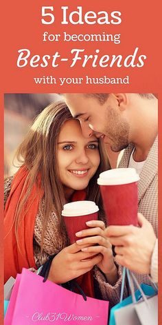 Do you ever wish you were closer friends with your husband? Well, you can! Here are some great ways to become best-friends with the man you married. 5 Ideas for Becoming Best Friends With Your Husband ~ Making A Relationship Work, Marriage Relationship, Marriage Advice, Relationships, Newlywed Advice, Marriage Box, Marriage Thoughts, Dating Advice, Strong Marriage