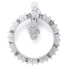 $67 at amazon for this sweet Kikkerland Big Wheel Revolving Wall Clock.  If the second year anniversary was clocks, Jay'd totally get this in July!!