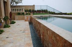 #wallfountain #fountain #limestone #endlesspool #pool