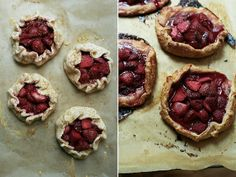 strawberry galettes with rye pastry by yossy | apt2bbakingco, via Flickr