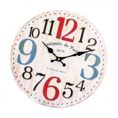 Clock made of wood MDF numbers. Fi 34 cm