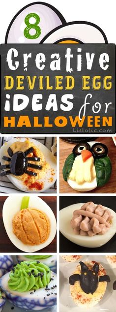 Easy Halloween Party Appetizers (Deviled Eggs 8 Ways) Halloween - halloween party foods ideas