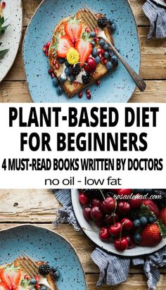 Are you looking at becoming vegan but don't know where to start? Check out these 4 Plant-Based Diet Books Written by 3 of the most Popular Doctors Plant Based Diet Books, Plant Based Eating, Whole Food Recipes, Diet Recipes, Vegetarian Recipes, Healthy Recipes, Vegan Meals, Vegan Food, Vegan Recipes Beginner