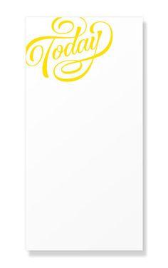 Typographic Notepads