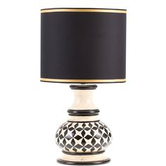 Ceccarelli Fred Lamp with Black Stars (11,870 CNY) ❤ liked on Polyvore featuring home, lighting, black, diamond lamp, black lamp, onyx lamp, black lights and black ceramic lamp