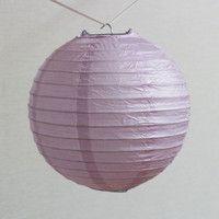 ペーパーランタン 20cm 薄紫 パーティーのデコレーション...