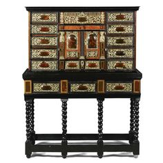 Checkerboard Floor, Cupboard Doors, Objet D'art, Antwerp, Tortoise Shell, 17th Century, Contemporary, Modern, Liquor Cabinet