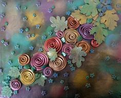 Roses - daylight by klio1961, via Flickr Salt Dough Crafts, Clay Tiles, Ceramic Flowers, Polymer Clay Projects, Journal Covers, Wall Sculptures, Clay Creations, Clay Art, Pottery