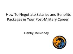 How To Negotiate Salaries and Benefits Packages In Your Post Milita...