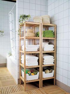 Badkamer: Molger voor opgerolde handdoeken #IKEAcatalogus
