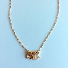 NWT Cali necklace In faux gold Jewelry Necklaces