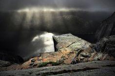 Preikestolen ~ The Pulpit Rock ~ Lysefjord Norway; photo by Kilian Schönberger.