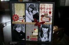 Photo Tray. Great idea for Christmas presents for family.