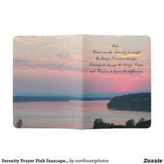 Serenity Prayer Pink Seascape Photo Extra Large Moleskine Notebook