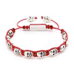 RS Skull Strap Red  #mensfashion#jewelry#bracelet#naturalgemstone#fashion#style#ootd#daily
