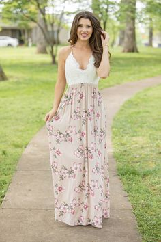 Embrace your Boho chic aesthetic in boutique maxi dresses that are effortlessly stylish. Uncover an assortment of fashionable, funky dresses at Pink Lily. Maxi Skirts, Dress Skirt, Boutique Maxi Dresses, Funky Dresses, Lace Maxi, Pink Lily, Boho Chic, Beige, Stylish