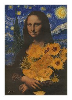 Mona Lisa and Van Gogh 'Sunflowers' (On A Starry Starry Night) - 2003