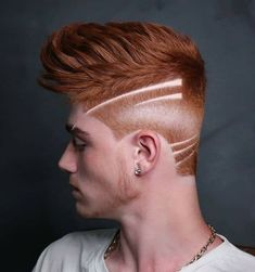 Are you looking for Men's Red Color Hairstyles? If you have ginger hair. Red Hair Men, Men Hair Color, Hair Designs For Men, Haircut Designs, Mens Hair Trends, Hair Tattoos, Boy Hairstyles, Amazing Hairstyles, Medium Hairstyles