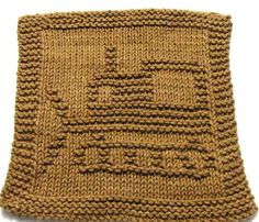 Knitting Pattern  BULLDOZER  Washcloth   PDF by ezcareknits, $2.85