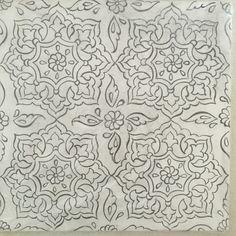 Nazlı Pınar Yerin Persian Pattern, Arabic Pattern, Persian Motifs, Pattern Art, Islamic Motifs, Islamic Tiles, Islamic Art, Arabesque, Textile Patterns