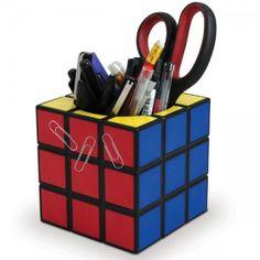 Portalápices cubo de Rubik