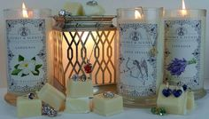 Enjoy our soy candles with elegant jewelry inside, natural skin care, and artisan teas from around the world. Candles With Jewelry Inside, Jewelry Candles, Soy Candles, Scented Candles, Wax Tarts, Love Spells, Mason Jar Lamp, The Secret, Crystals