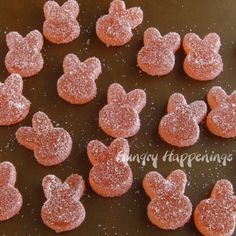 Homemade Sour Gummy Bunnies - Hungry Happenings Easter Recipes - Food omnomnom - Healt and fitness Sour Gummy Candy Recipe, Sour Gummies Recipe, Sour Candy, Homemade Gummy Bears, Homemade Gummies, Homemade Candies, Sour Gummy Bears, Easter Candy, Easter Food