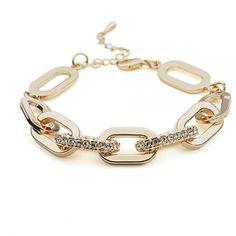 2017 Fashion Jewelry individuality Austrian Crystal Luxurious color zircon Bracelet Gold Colour For Women Diamond Jewelry, Silver Jewelry, Fine Jewelry, Jewellery, Hand Bracelet, Bracelet Making, Fashion Bracelets, Fashion Jewelry, Women Jewelry