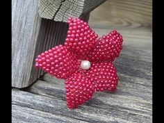 1° nd PART flower in beads ° parte Flor em Miçanga Passo a Passo - YouTube