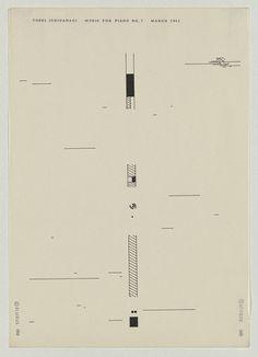 Experimental music notation resources - Toshi Ichiyanagi, including some written instructions for interpretation1