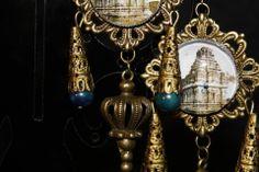 """boucles d'oreilles baroques orientalistes """"la clef du temple"""" les voyages de L-C W : Boucles d'oreille par itzalak-joko"""