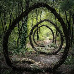 Ellie Davies still spent 7 years in forests of the UK slightly altering them to give a more fairy tale feel. The layers of meaning that man puts on nature is her passion and her work is supposed to evoke thoughts in that direction. Is the forest magical and spooky by itself, or because we believe it to be so?