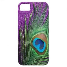 feminine - The feather and glitter provide a cool contrast of texture, and the jewel tones enhance each other.