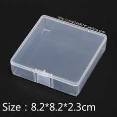 Component & Accessories Boxes transparent plastic Boxes product storage & packaging & Small Parts square Box Free Shipping