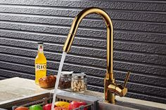 Bathroom Kitchen Sink Faucet Mixer Hot Cold Brass Tap Pull Out Sprayer Swivel