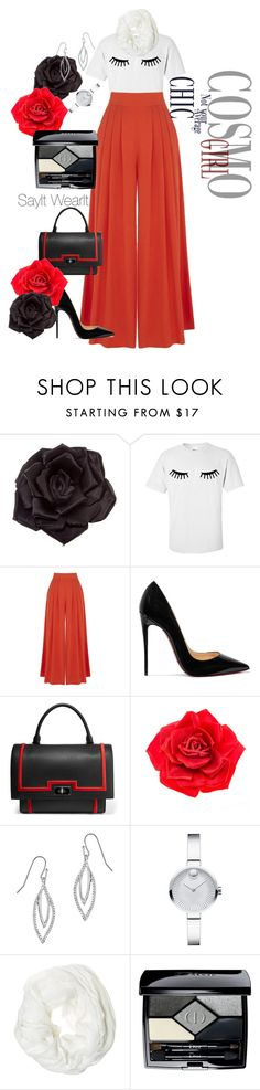 """""""Sleeping Beauty"""" by sayitwearit ❤ liked on Polyvore featuring Johnny Loves Rosie, Warehouse, Christian Louboutin, Givenchy, Movado, Betsey Johnson and Christian Dior"""