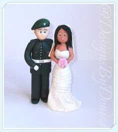 Hand Made Personalised Wedding Cake Topper by DesignsByDenisa