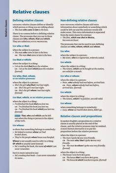 Relative clauses - grammar lesson #learnenglish