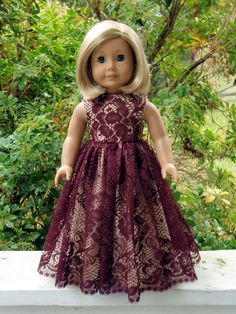 American Girl Doll Clothes Party Dress.