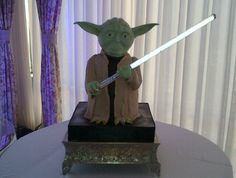 Now *that's* a wedding cake! Wow! Do you cut it with a lightsaber?