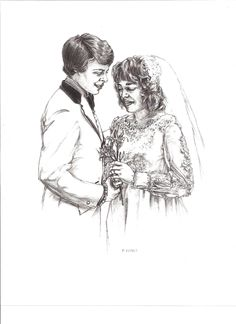 This was a pencil rendering which was commissioned by a friend who I worked with.  The persons portrayed meant a lot to my friend and was given as a gift to them. #PencilRendering #WeddingPortraits #CommissionArt #BlackAndWhiteArt #PeopleArt