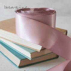 38mm Dusky Pink Satin Ribbon , Wide satin ribbon on Dusky pink. 35mm double faced satin ribbon. Roll of wide ribbon for DIY wedding stationery. DIY wedding stationery supplies from Imagine DIY  #diywedding #diyweddingideas #diyweddingstationery #diyweddinginvitation #diyweddinginvitations #diyweddinginvite #diyweddinginvites #weddingideas #ribbon