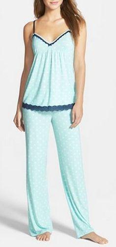 Lace Trim Camisole Pajamas to Lounge or Sleep Cute Pjs, Cute Pajamas, Pajamas Women, Pajama Day, Pajamas All Day, Pajama Pants, Lingerie Sleepwear, Nightwear, Pyjamas